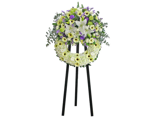 Funeral Flower - Funeral Wreath 5B - L0176853 Photo