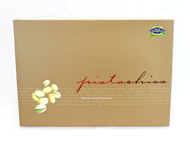 Gift Accessories - Blue Diamond Roasted Salted Pistachio Nuts - L40085 Photo