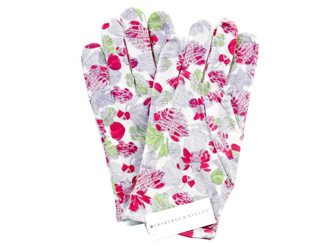 Gift Accessories - Crabtree & Evelyn Floral Print Moisturising Cotton Gloves - L3105881 Photo