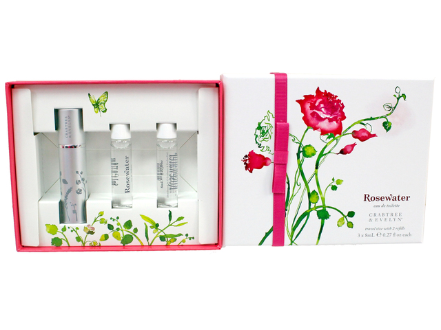 Gift Accessories - Crabtree & Evelyn Rosewater eau de toilette Travel size with Refills - L3105870 Photo