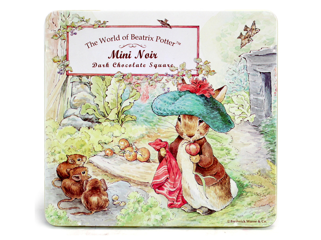 Gift Accessories - The World of Beatrix Potter Mini Noin Dark Chocolate Square - L598018 Photo