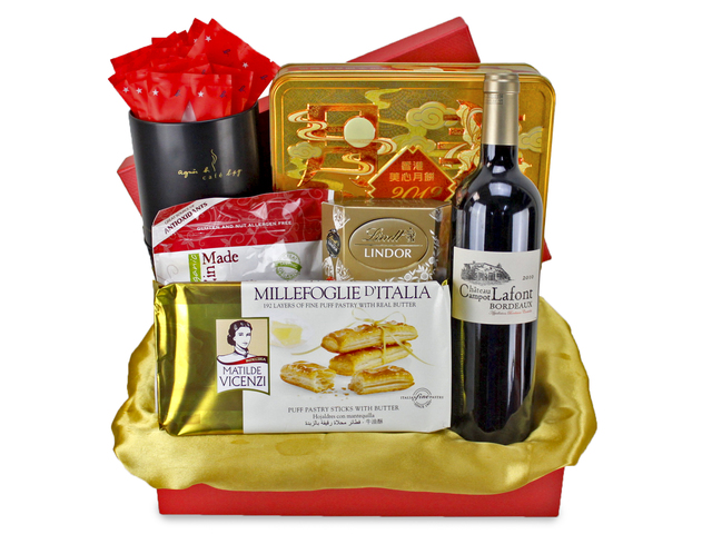 Mid-Autumn Gift Hamper - Mid-Autumn Maxim Moon Cake Fruit Gift Basket H3 - L89591 Photo