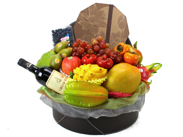 Mid-Autumn Gift Hamper - Mid-Autumn Peninsula Moon Cake Supreme Fruits Gift Leather +AOC Wine (18)  - L11431 Photo