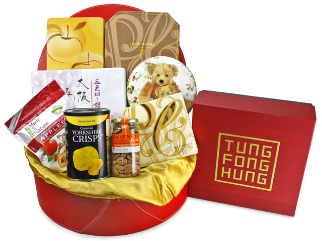 Mid-Autumn Gift Hamper - mailable worldwide - (8) ShopThurPost - Mid Autumn Mooncake Fruit Hamper - L90270 Photo
