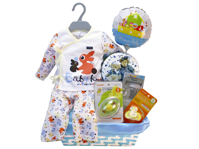 New Born Baby Gift - Baby Boy Gift Hamper 02 - L85109 Photo