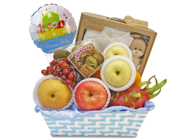 New Born Baby Gift - Baby Gift Basket N1 - L85305 Photo