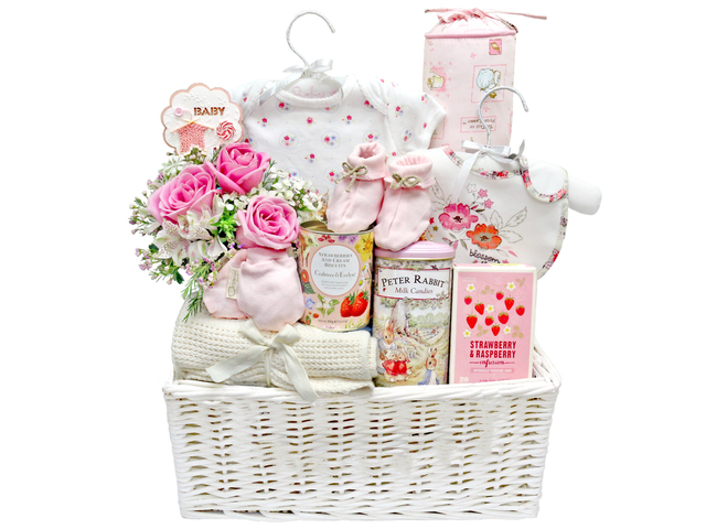 New Born Baby Gift - Baby Gift Basket z12 - L36668666 Photo