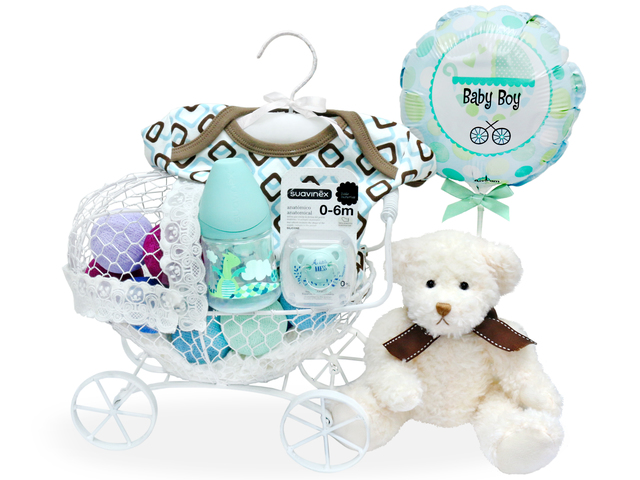 New Born Baby Gift - Baby Gift Basket z17 - L36668410 Photo