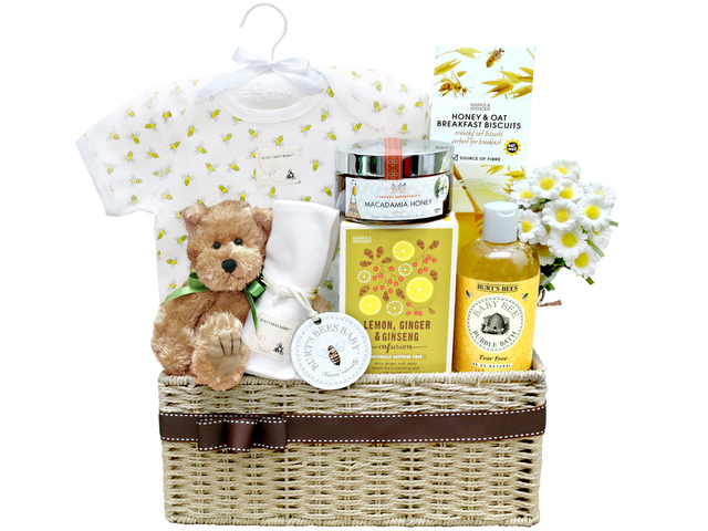 New Born Baby Gift - Baby Gift Basket z21 - L36668780 Photo