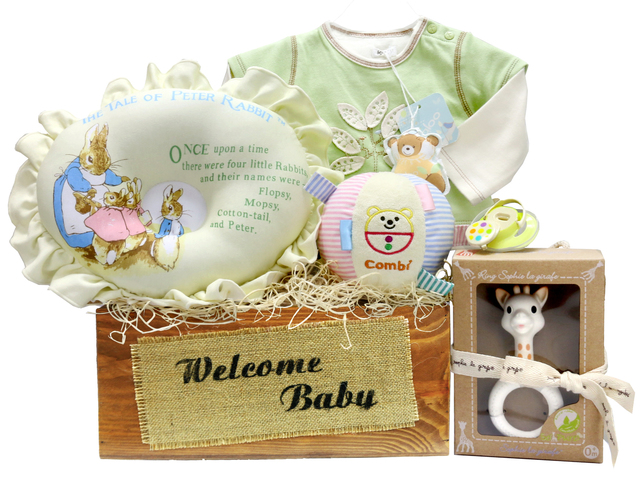 New Born Baby Gift - Baby Gift Basket z2 - L36667922 Photo