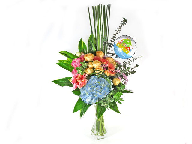 New Born Baby Gift - Flower in Vase 6 - L35246 Photo