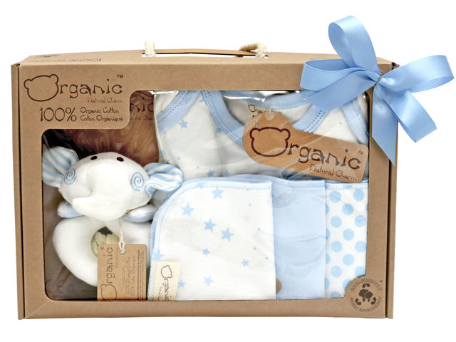 a0c32da77eed8 New Born Baby Gift - Natural Charm Organic Cotton Baby Gift Set - L36667862  Photo