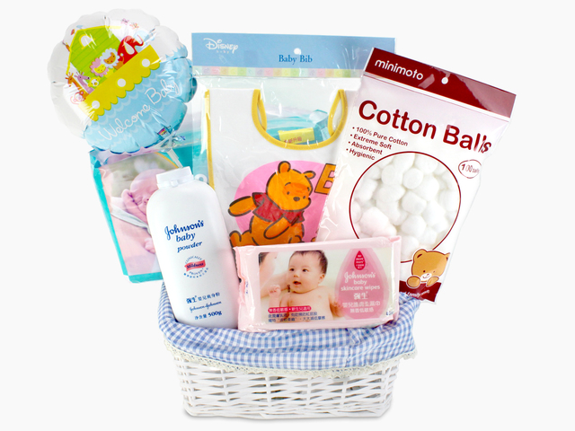 New Born Baby Gift - New Born Baby Gift Basket L - L50866 Photo