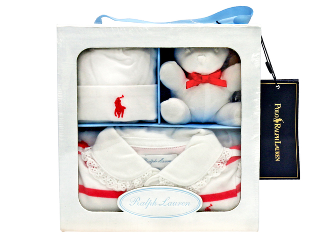 New Born Baby Gift - Polo Ralph Lauren premium baby 3-piece gift set - L36667879 Photo