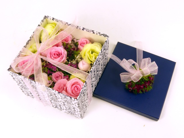 Order Flowers in Box - Boxful of Thoughts - P5255 Photo