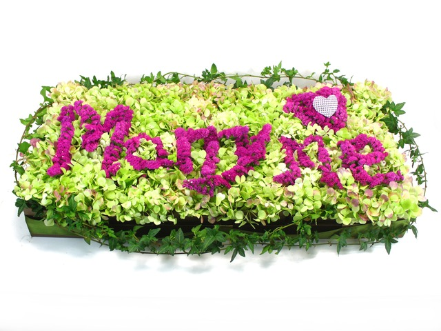 Order Flowers in Box - Customized Letter Mini-Garden 2 - L31019 Photo