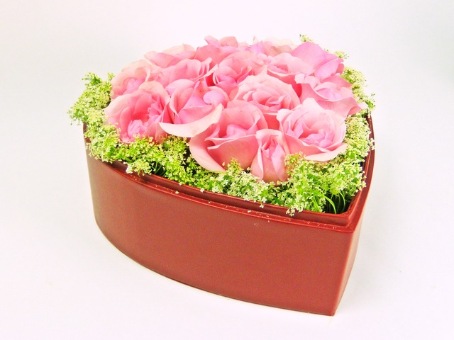 Order Flowers in Box - Pink Cupid - P1504 Photo