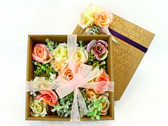 Order Flowers in Box - Silk Flower Box - L17065 Photo