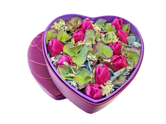 Order Flowers in Box - Tulips Box Flower 1 - L156571 Photo