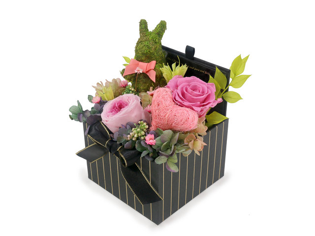 Preserved Forever Flower - Cutie Bunny Preserved Flower Box M44 - L45000081 Photo