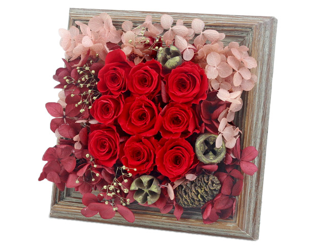 Preserved Forever Flower - Happiness in the Photo Frame Preserved Flower M19 - L36515511 Photo