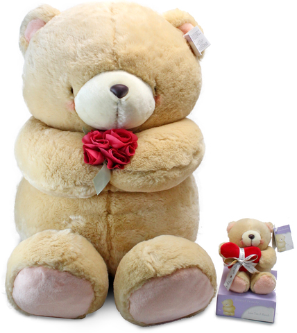 Teddy Bear n Doll - 60cm Tall Forever Friends Teddy - L101856  Photo