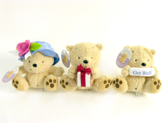Teddy Bear n Doll - Hallmark Roly Teddy Bear - P18418 Photo