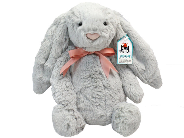 Teddy Bear n Doll - JellyCat Silver Bunny - L192280 Photo