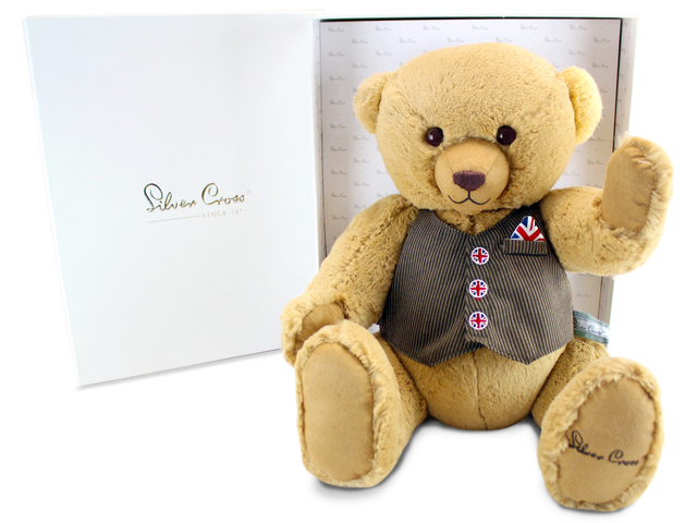 Teddy Bear n Doll - Silver Cross George Classic British Bear - L116302 Photo