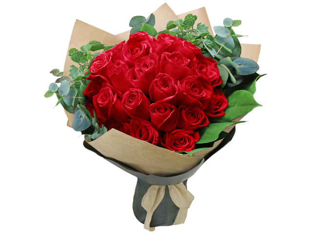 Valentines Day Flower n Gift - 30pcs. Red rose bouquet florist  RD27 - L76604502e Photo