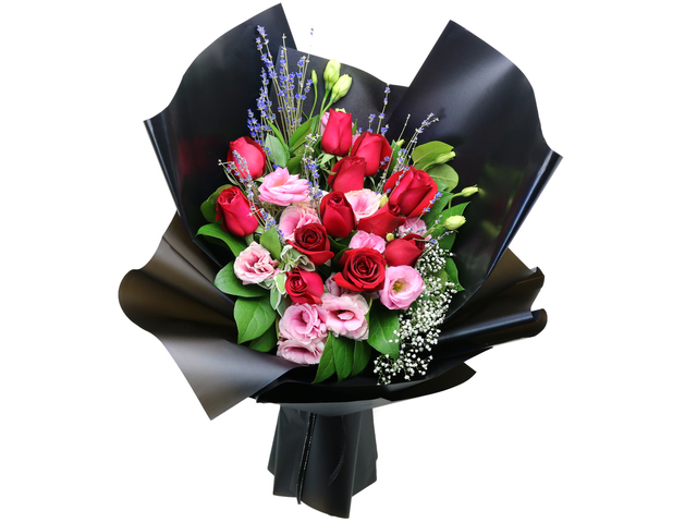 Valentines Day Flower n Gift - Valentine's Lavender Red rose bouquet florist  RD30 - L76604553b Photo
