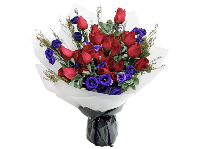 Valentines Day Flower n Gift - Valentine's Red rose bouquet florist  RD19 - L76604412b Photo