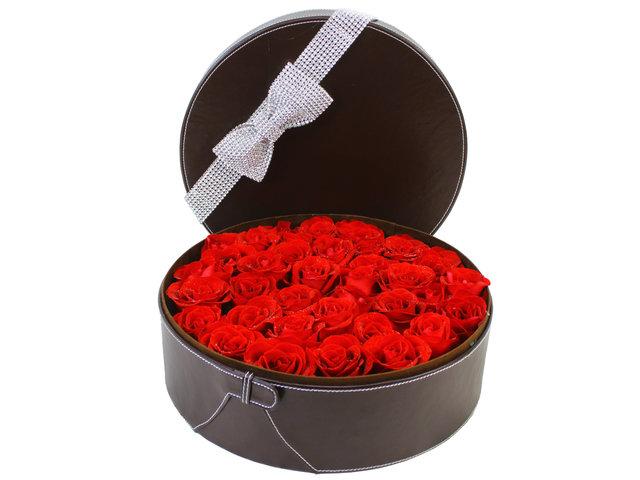 Valentines Day Flower n Gift - Valentine's box - 30 roses - K05139v Photo