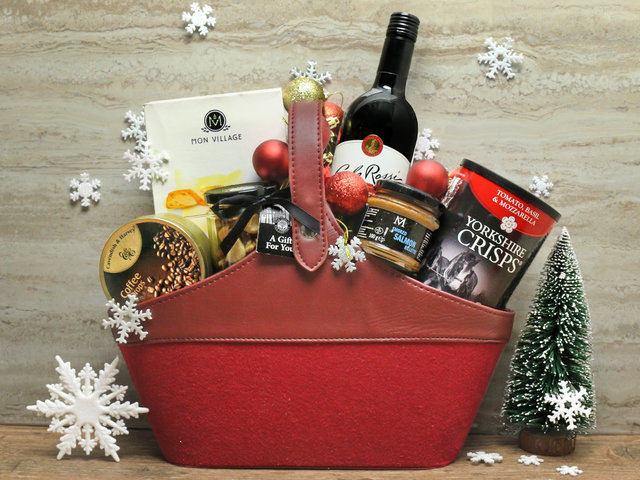 Wine n Food Hamper - Christmas Hamper L9 - L76609655 Photo