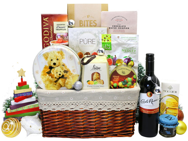 Wine n Food Hamper - Christmas hamper L10 - L36671399 Photo
