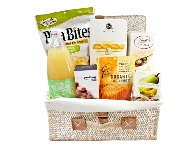 Wine n Food Hamper - Picnic style gift Basket F2 - L96974 Photo