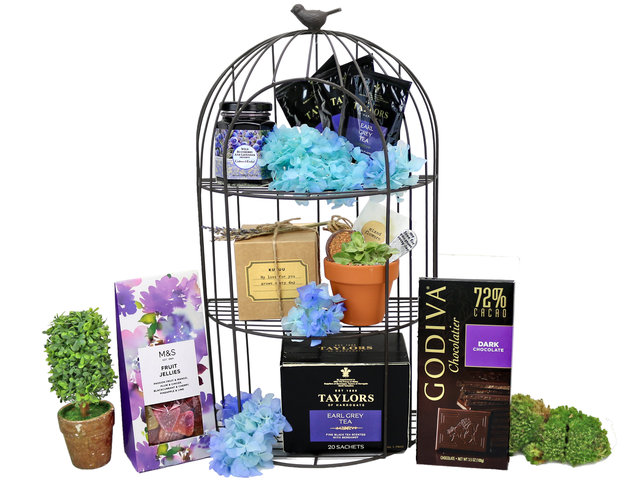 Wine n Food Hamper - The birdcage gift collection B - L76606507 Photo
