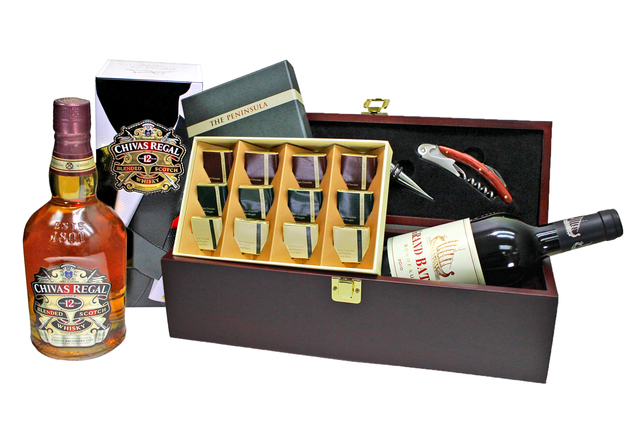 Wine n Food Hamper - Wine Box Gift Hamper G - L7777841 Photo