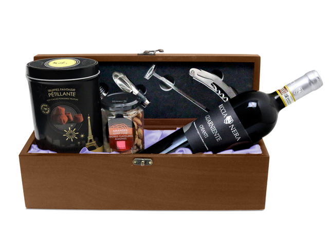 Wine n Food Hamper - Wine Box Gift Hamper W9 - L76601764 Photo