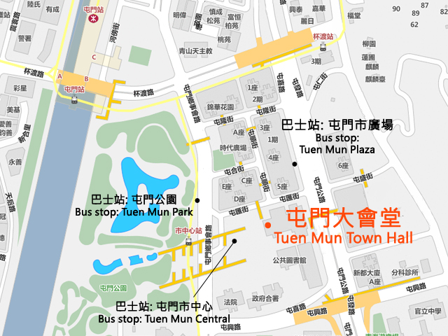 Tuen Mun Town Hall Map