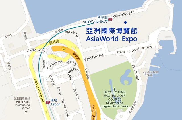 Asiaworld-Expo Map