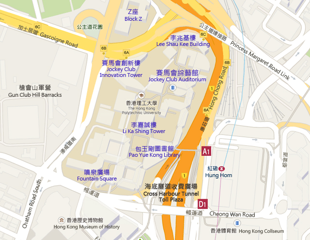 PolyU - The Hong Kong Polytechnic University Map