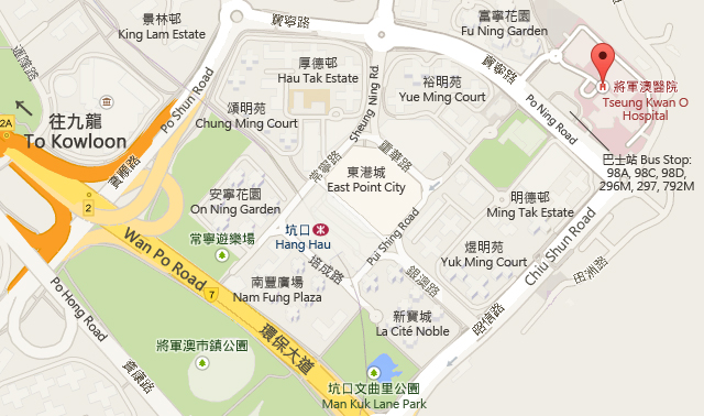 Tseung Kwan O Hospital Map