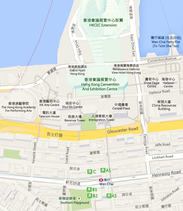 HKCEC - Hong Kong Convention and Exhibition Centre Map