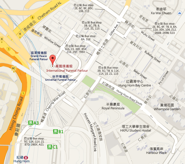 International Funeral Parlour  Map