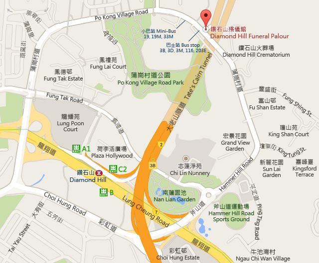 Diamond Hill Funeral Parlour Map