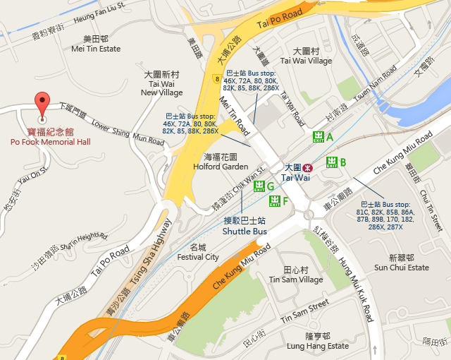 Po Fook Memorial Hall Map