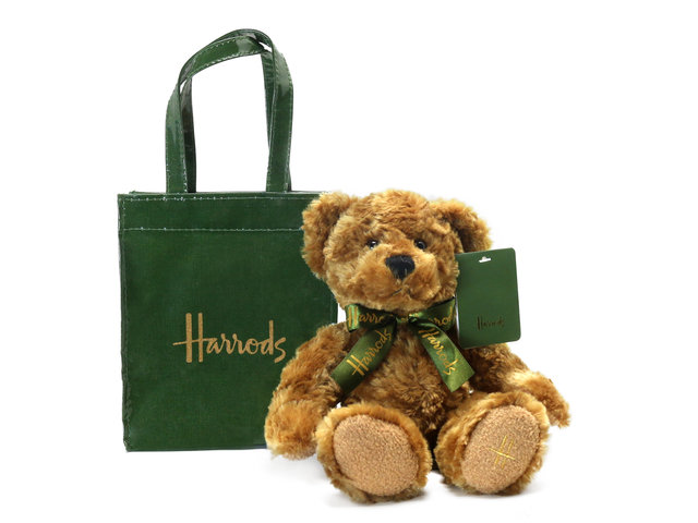 泰迪熊毛公仔 - Harrods Bear In A Green Bag - L76610017 Photo