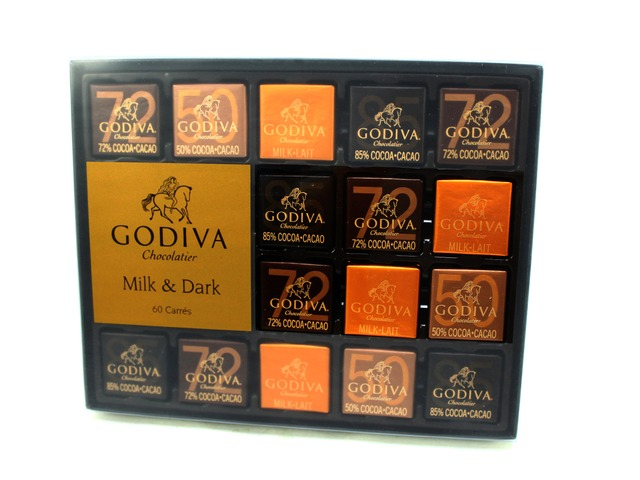 花店附加禮物 - Godiva Carré Collection 60pcs - L06808 Photo