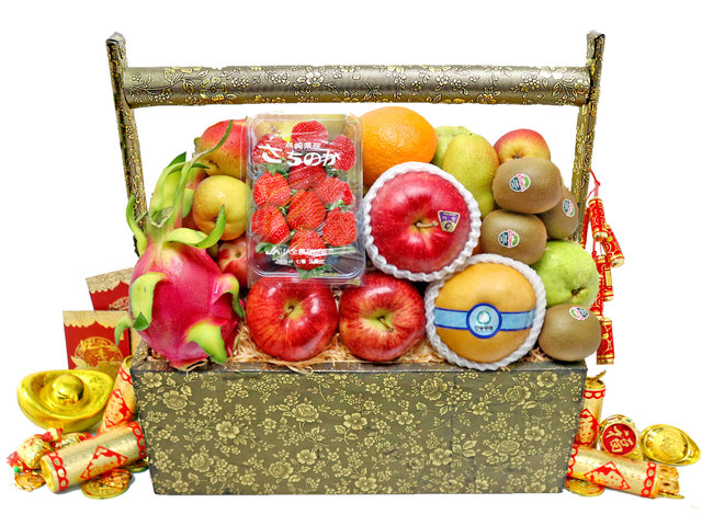CNY Gift Hamper - CNY fruit basket M4 - L76600859b Photo